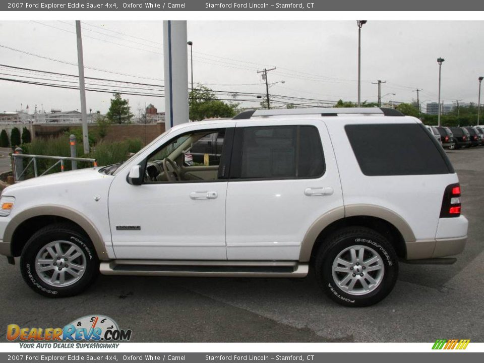 2007 ford explorer eddie bauer 4x4 oxford white camel photo 10. Black Bedroom Furniture Sets. Home Design Ideas