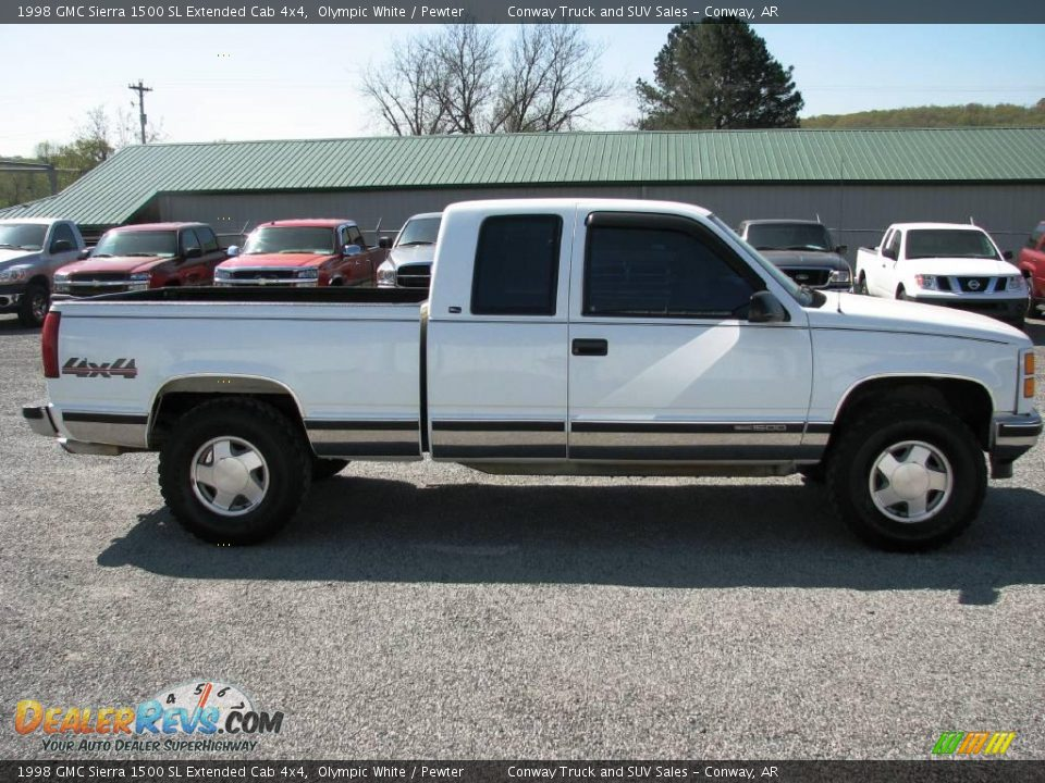 1998 gmc sierra 1500 sl extended cab 4x4 olympic white. Black Bedroom Furniture Sets. Home Design Ideas