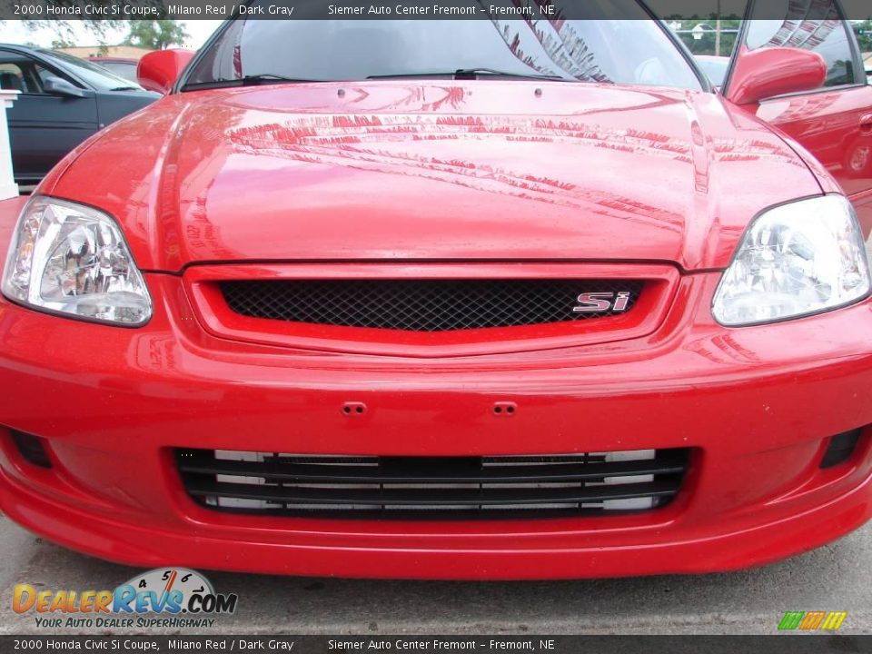 2000 Honda Civic Si Coupe Milano Red Dark Gray Photo 9