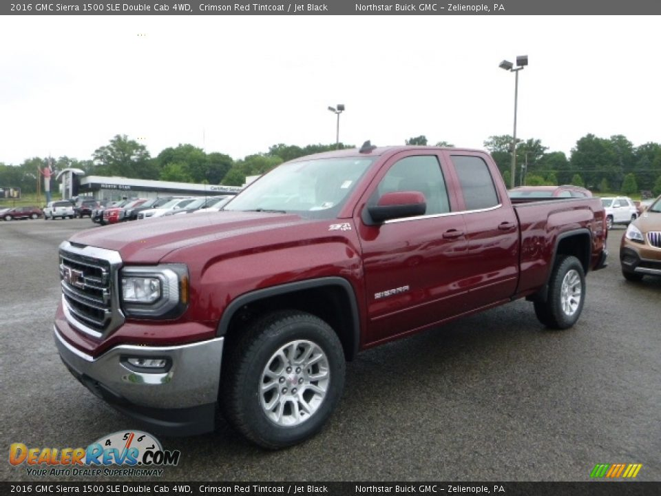 2016 GMC Sierra 1500 SLE Double Cab 4WD Crimson Red Tintcoat / Jet Black Photo #1