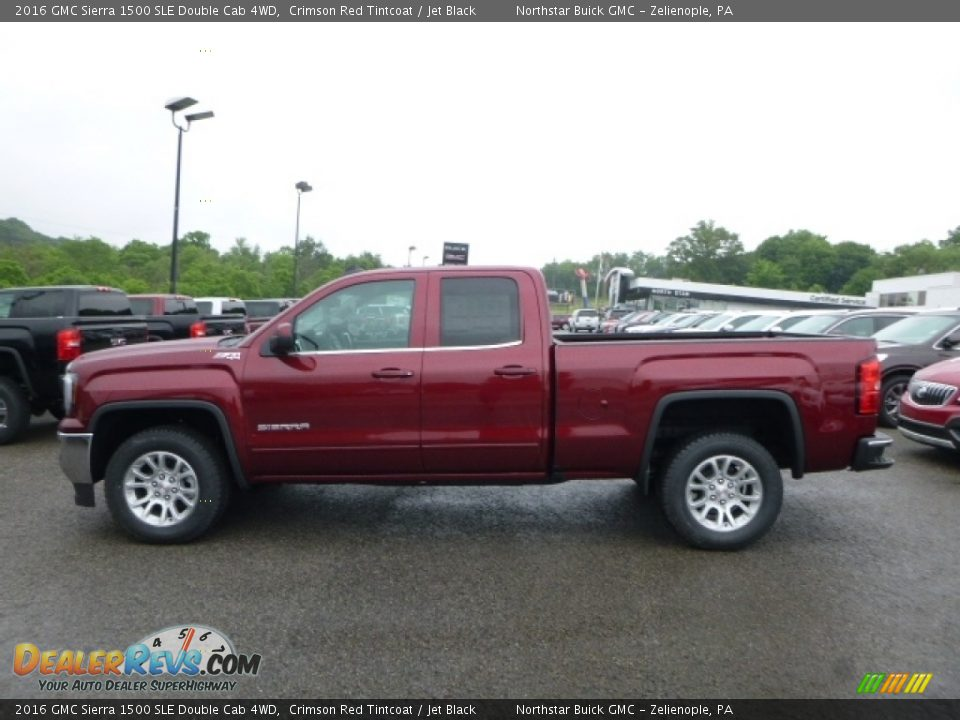 2016 GMC Sierra 1500 SLE Double Cab 4WD Crimson Red Tintcoat / Jet Black Photo #2