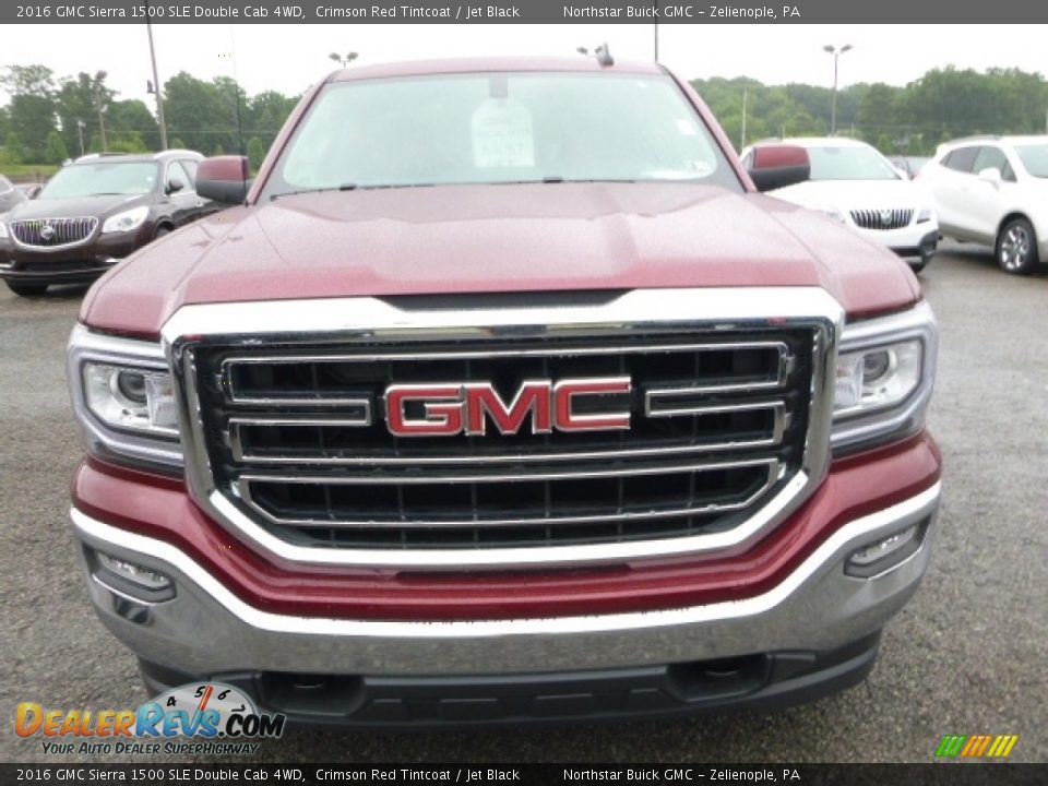 2016 GMC Sierra 1500 SLE Double Cab 4WD Crimson Red Tintcoat / Jet Black Photo #9