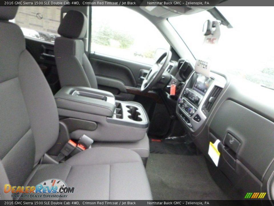 2016 GMC Sierra 1500 SLE Double Cab 4WD Crimson Red Tintcoat / Jet Black Photo #11