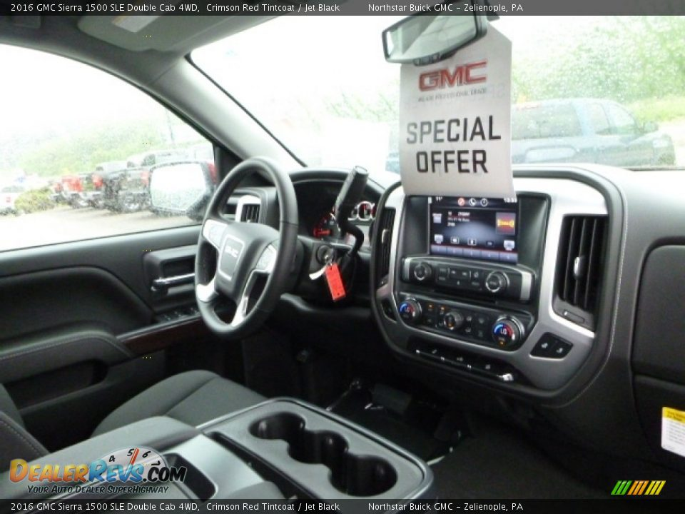 2016 GMC Sierra 1500 SLE Double Cab 4WD Crimson Red Tintcoat / Jet Black Photo #12