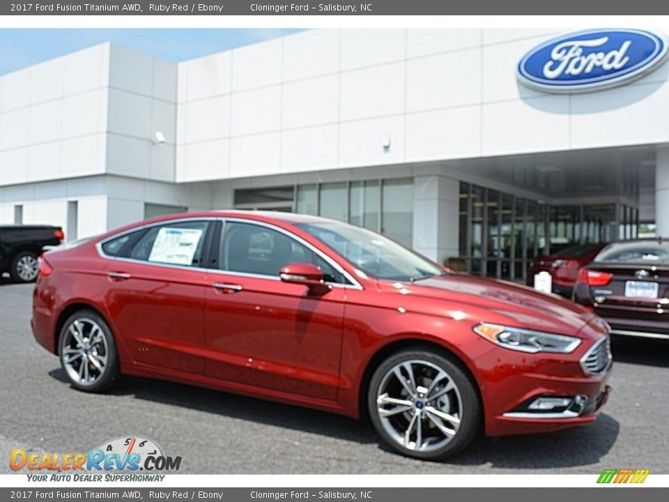 2017 Ford Fusion Titanium AWD Ruby Red / Ebony Photo #1