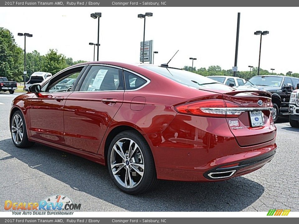 2017 Ford Fusion Titanium AWD Ruby Red / Ebony Photo #24