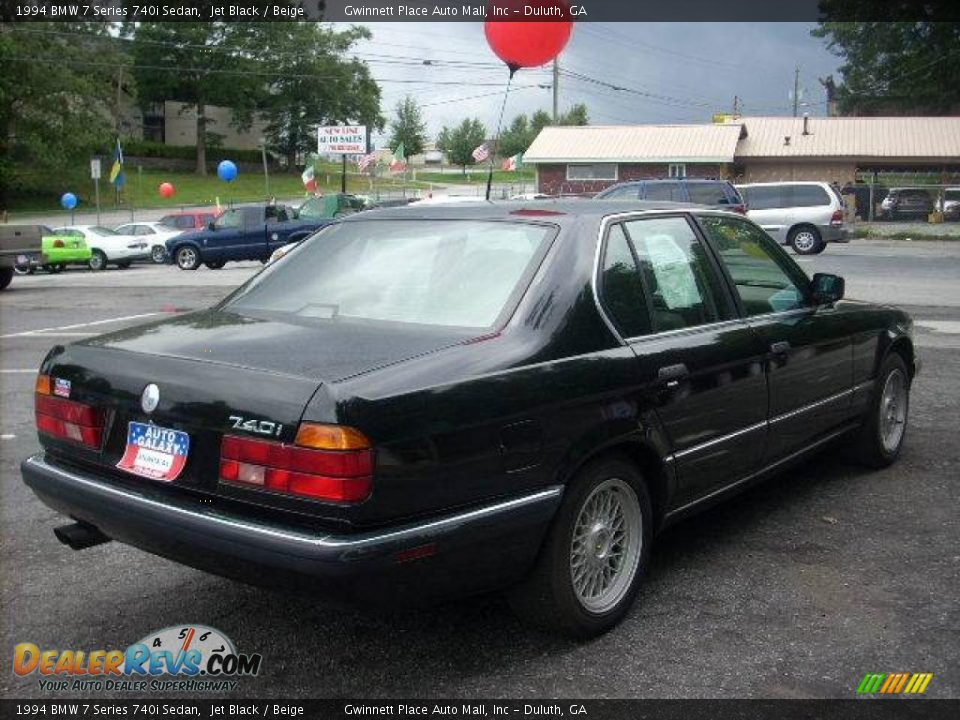 1994 Bmw 7 Series 740i Sedan Jet Black Beige Photo 3
