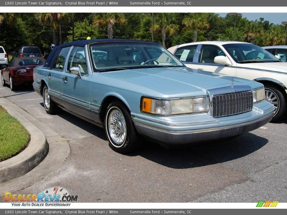 1993 lincoln town car signature crystal blue frost pearl for State motors lincoln dealer manchester nh
