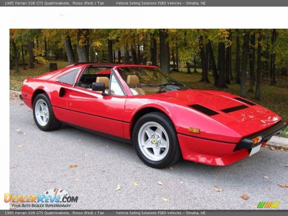 1985 Ferrari 308 GTS Quattrovalvole Rosso (Red) / Tan Photo #3