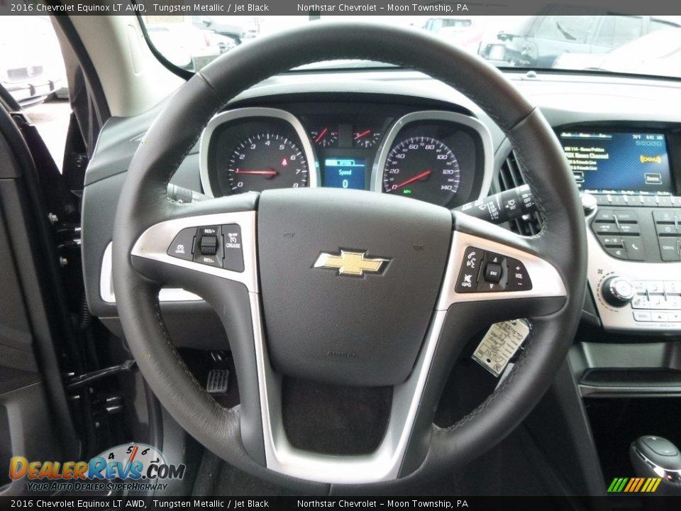 2016 Chevrolet Equinox LT AWD Tungsten Metallic / Jet Black Photo #17