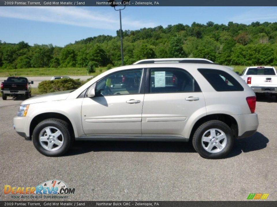 2009 Pontiac Torrent Gold Mist Metallic / Sand Photo #3