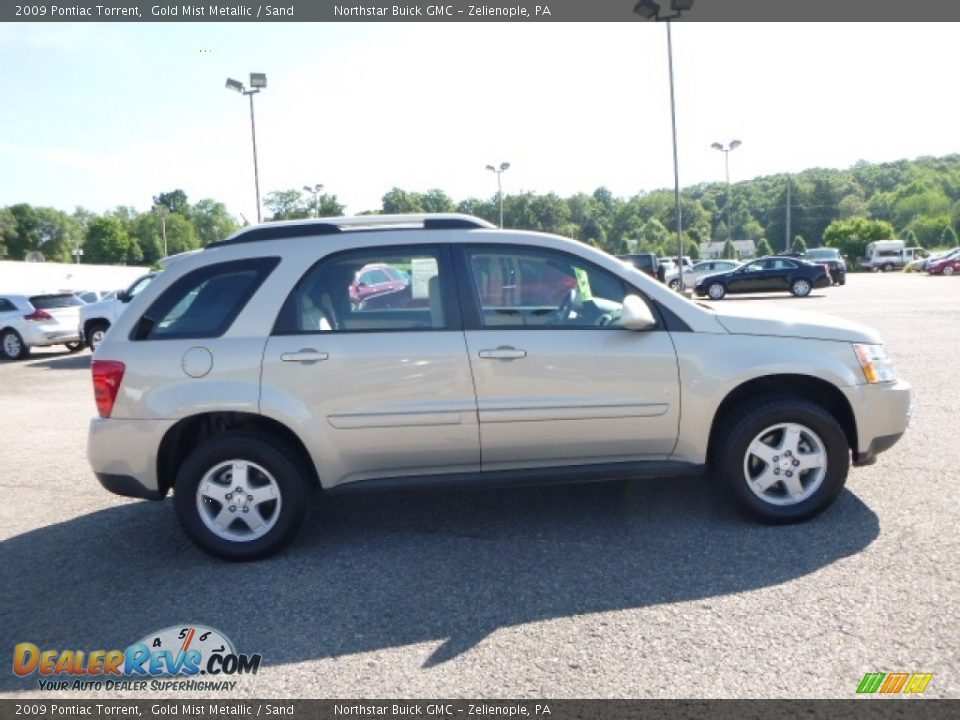 2009 Pontiac Torrent Gold Mist Metallic / Sand Photo #7
