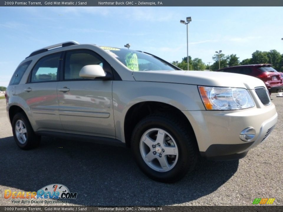 2009 Pontiac Torrent Gold Mist Metallic / Sand Photo #9