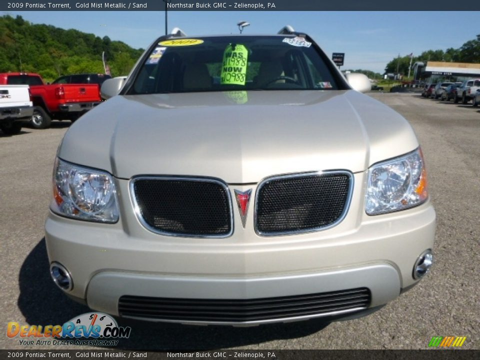 2009 Pontiac Torrent Gold Mist Metallic / Sand Photo #10