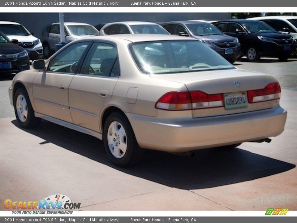 2001 Honda Accord EX V6 Sedan Naples Gold Metallic / Ivory Photo #2