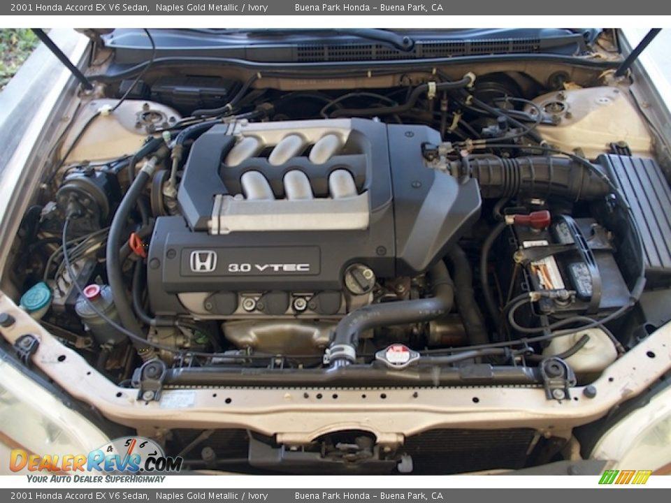 2001 Honda Accord EX V6 Sedan Naples Gold Metallic / Ivory Photo #26