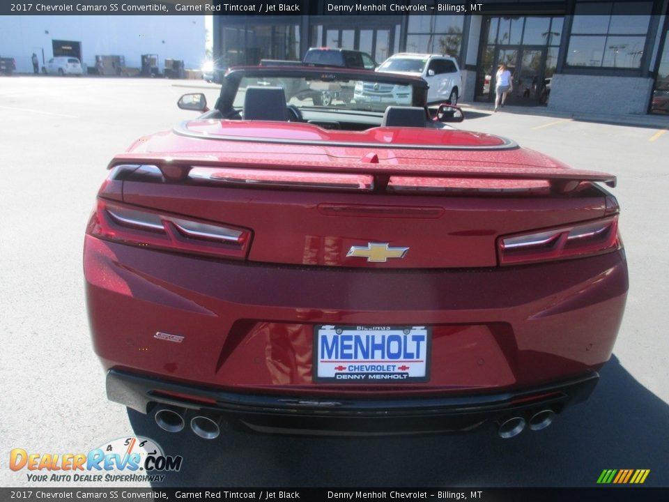 2017 Chevrolet Camaro SS Convertible Garnet Red Tintcoat / Jet Black Photo #4