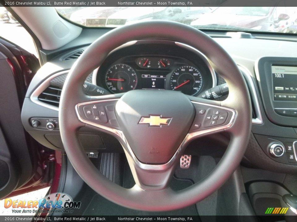2016 Chevrolet Malibu LS Butte Red Metallic / Jet Black Photo #17