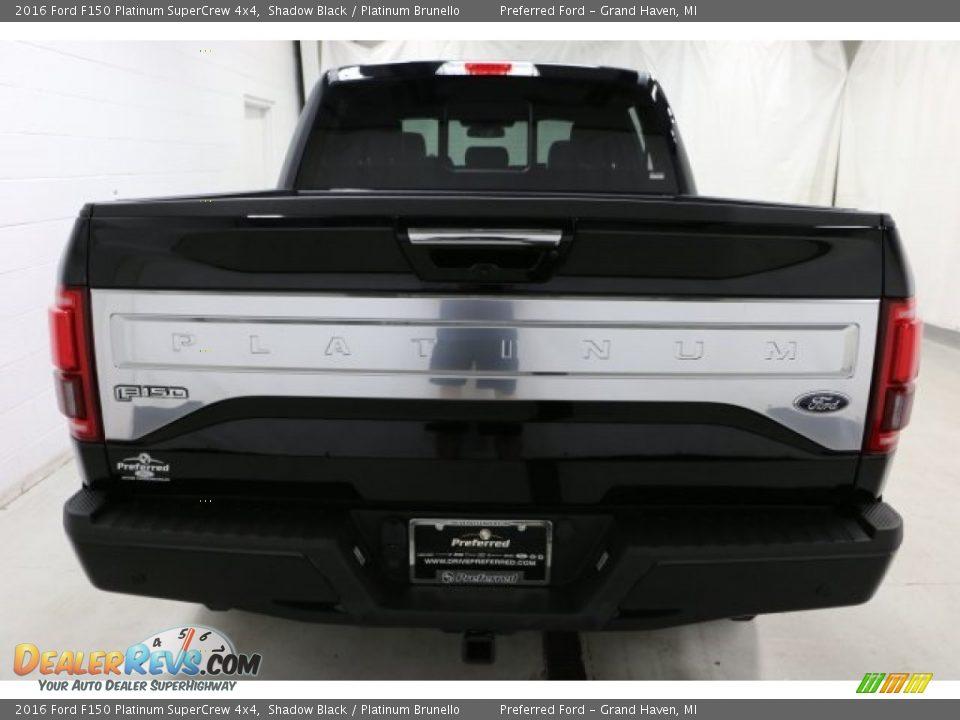 2016 Ford F150 Platinum SuperCrew 4x4 Shadow Black / Platinum Brunello Photo #6