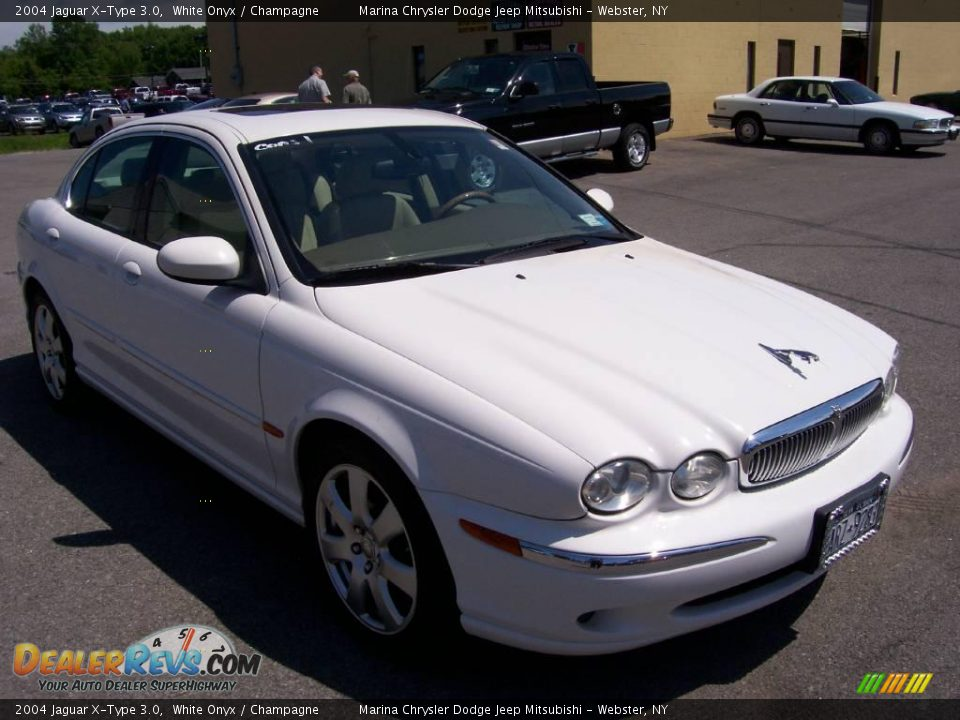 2004 jaguar x type 3 0 white onyx champagne photo 12 dealerrevs