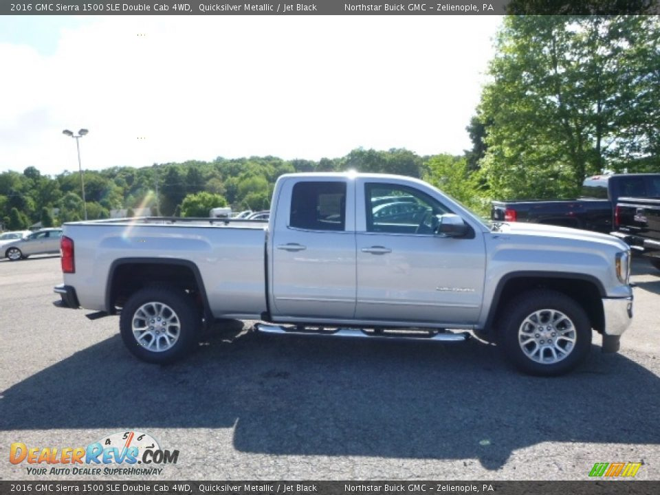 2016 GMC Sierra 1500 SLE Double Cab 4WD Quicksilver Metallic / Jet Black Photo #6