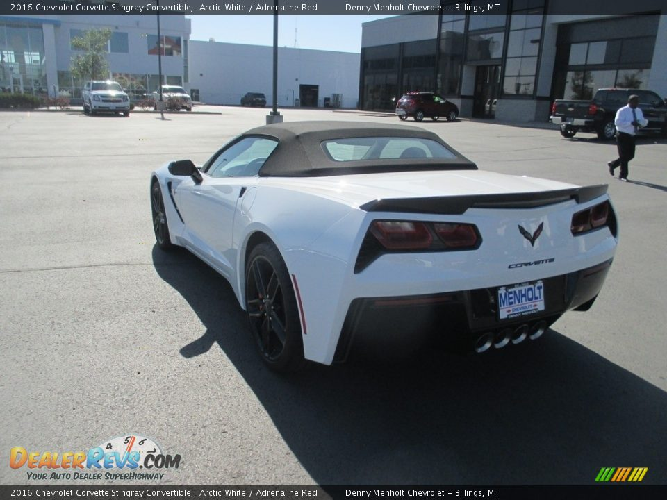 2016 Chevrolet Corvette Stingray Convertible Arctic White / Adrenaline Red Photo #5