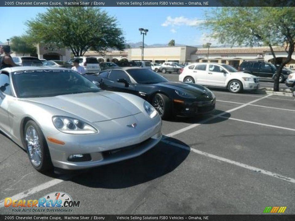 2005 Chevrolet Corvette Coupe Machine Silver / Ebony Photo #16
