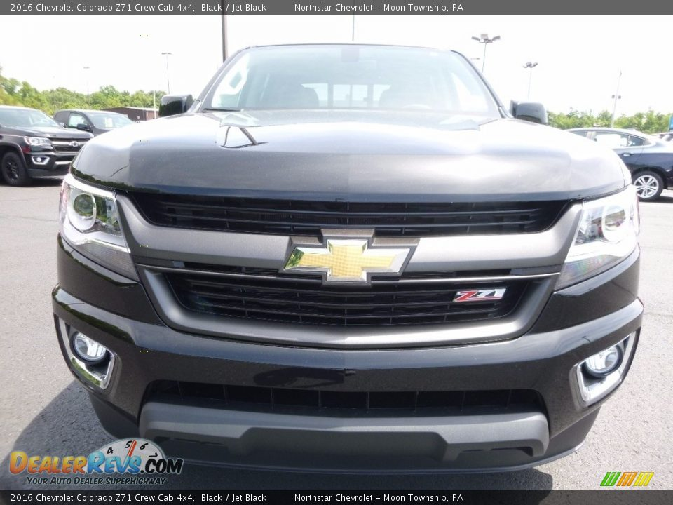 2016 Chevrolet Colorado Z71 Crew Cab 4x4 Black / Jet Black Photo #2