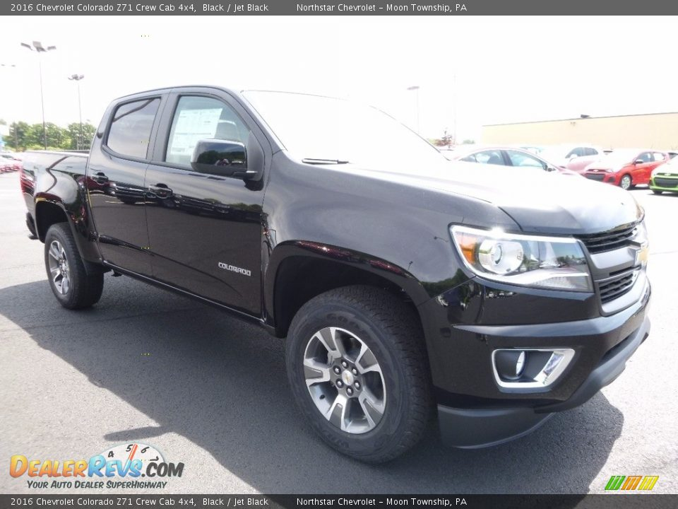 2016 Chevrolet Colorado Z71 Crew Cab 4x4 Black / Jet Black Photo #3