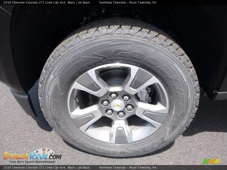 2016 Chevrolet Colorado Z71 Crew Cab 4x4 Black / Jet Black Photo #9