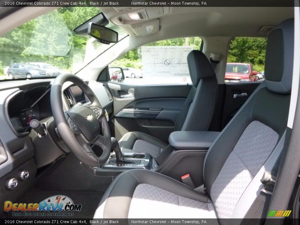 2016 Chevrolet Colorado Z71 Crew Cab 4x4 Black / Jet Black Photo #10