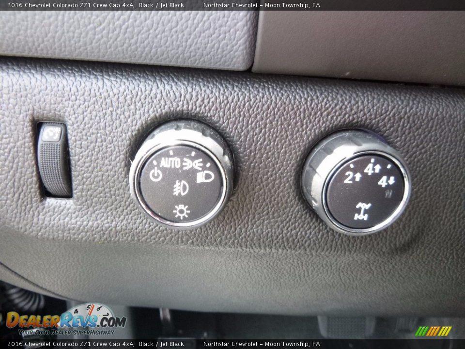 2016 Chevrolet Colorado Z71 Crew Cab 4x4 Black / Jet Black Photo #15