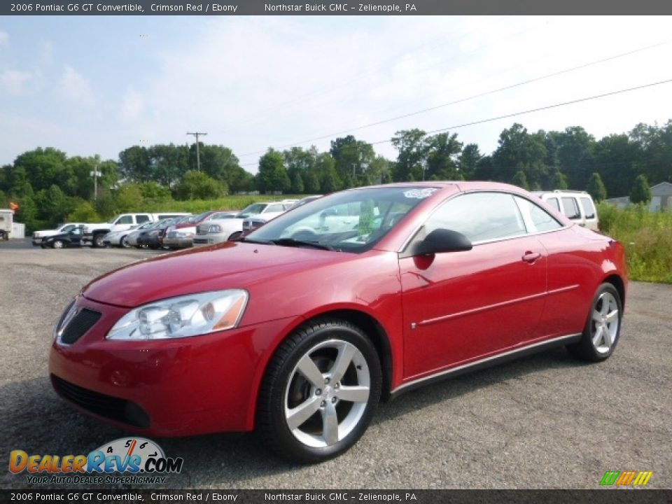 2006 Pontiac G6 GT Convertible Crimson Red / Ebony Photo #1
