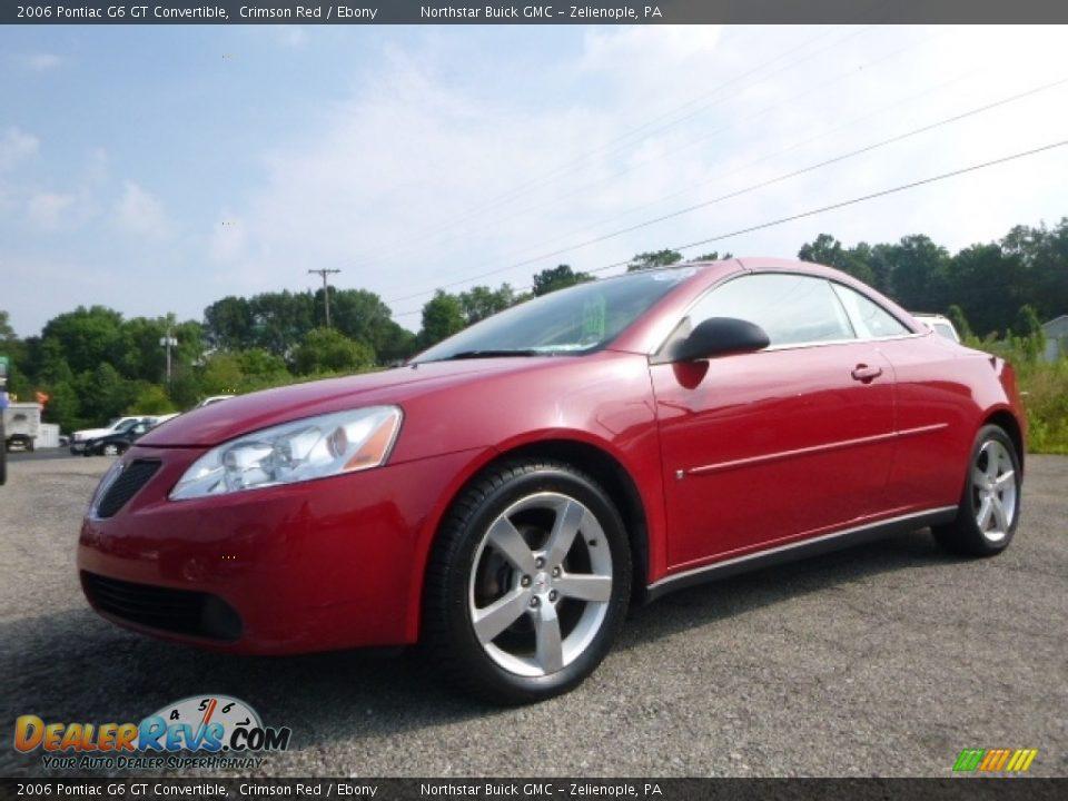 2006 Pontiac G6 GT Convertible Crimson Red / Ebony Photo #2