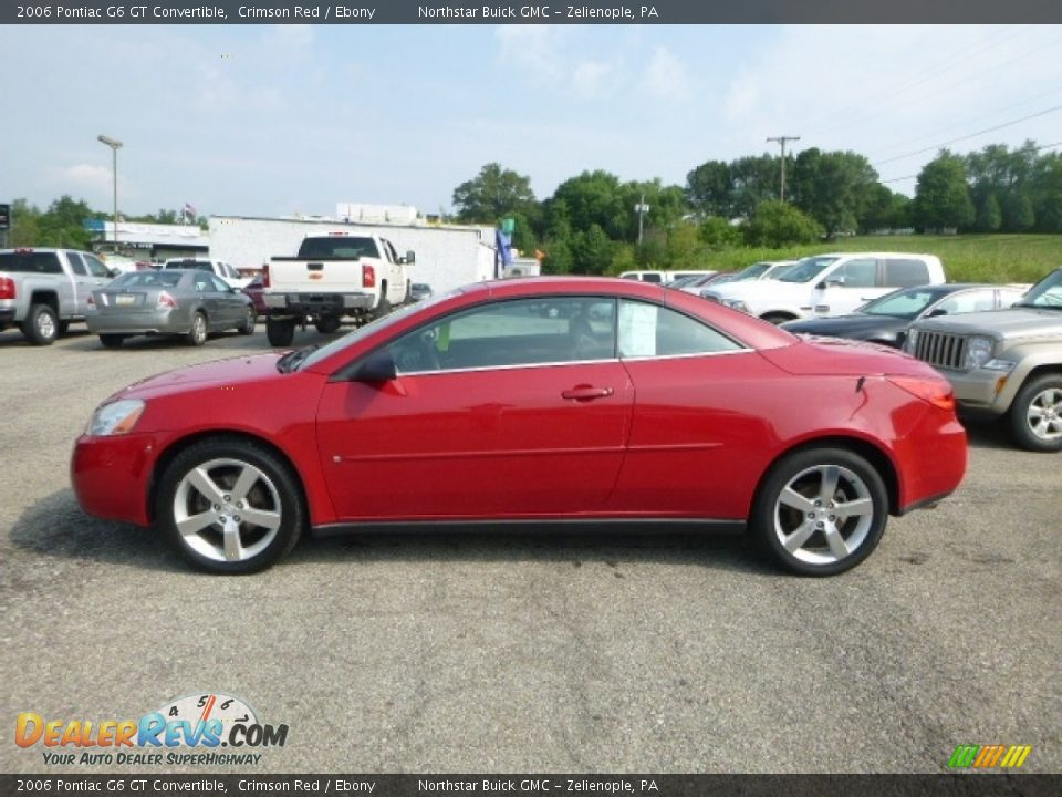 2006 Pontiac G6 GT Convertible Crimson Red / Ebony Photo #3
