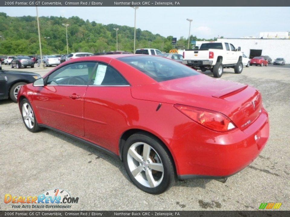 2006 Pontiac G6 GT Convertible Crimson Red / Ebony Photo #4