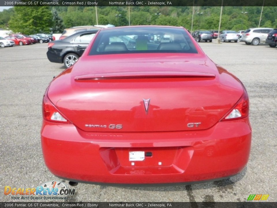 2006 Pontiac G6 GT Convertible Crimson Red / Ebony Photo #5