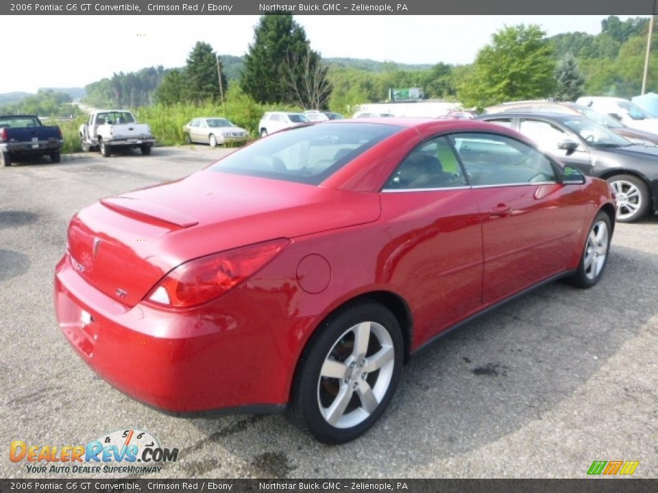 2006 Pontiac G6 GT Convertible Crimson Red / Ebony Photo #6