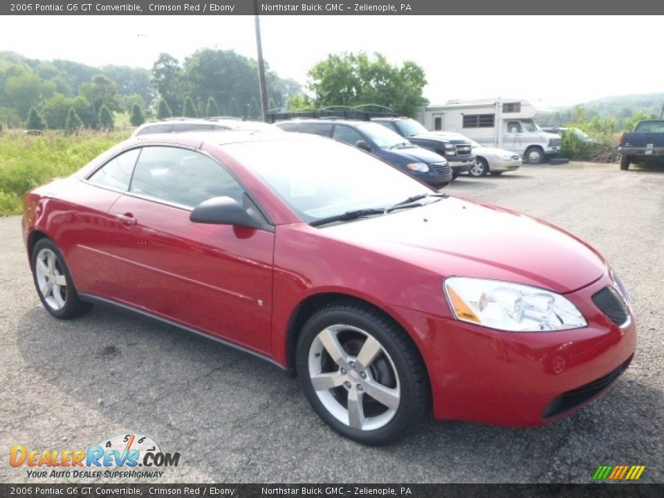 2006 Pontiac G6 GT Convertible Crimson Red / Ebony Photo #8