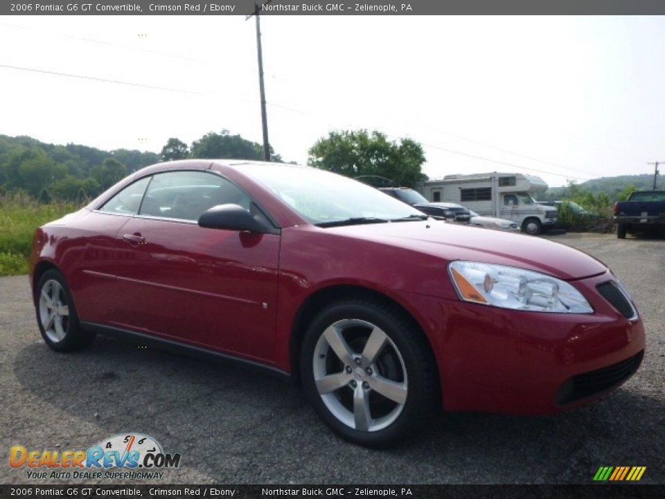 2006 Pontiac G6 GT Convertible Crimson Red / Ebony Photo #9