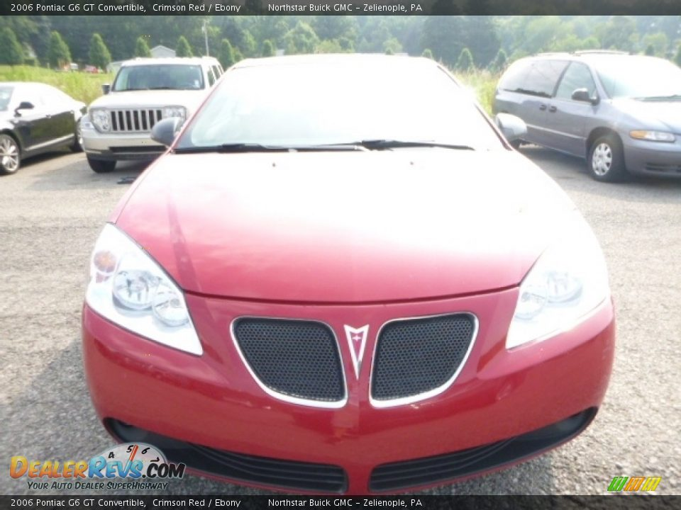 2006 Pontiac G6 GT Convertible Crimson Red / Ebony Photo #10