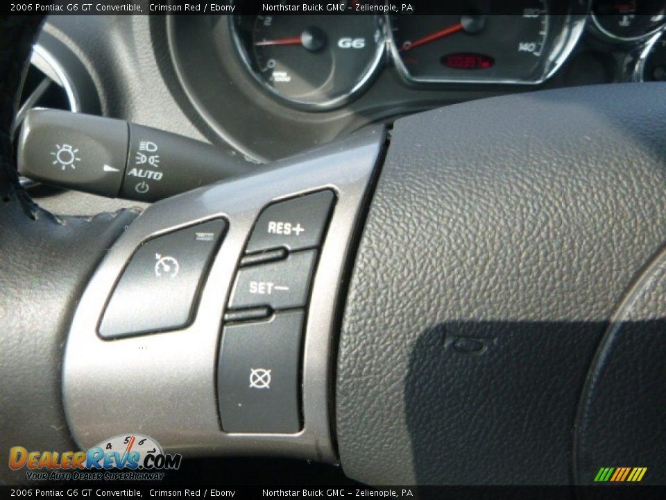 2006 Pontiac G6 GT Convertible Crimson Red / Ebony Photo #24