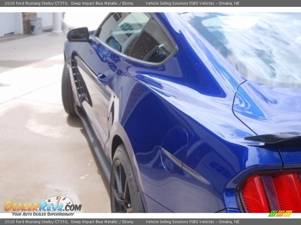 2016 Ford Mustang Shelby GT350 Deep Impact Blue Metallic / Ebony Photo #3