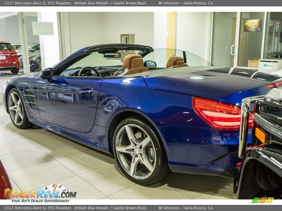 2017 Mercedes-Benz SL 550 Roadster Brilliant Blue Metallic / Saddle Brown/Black Photo #3