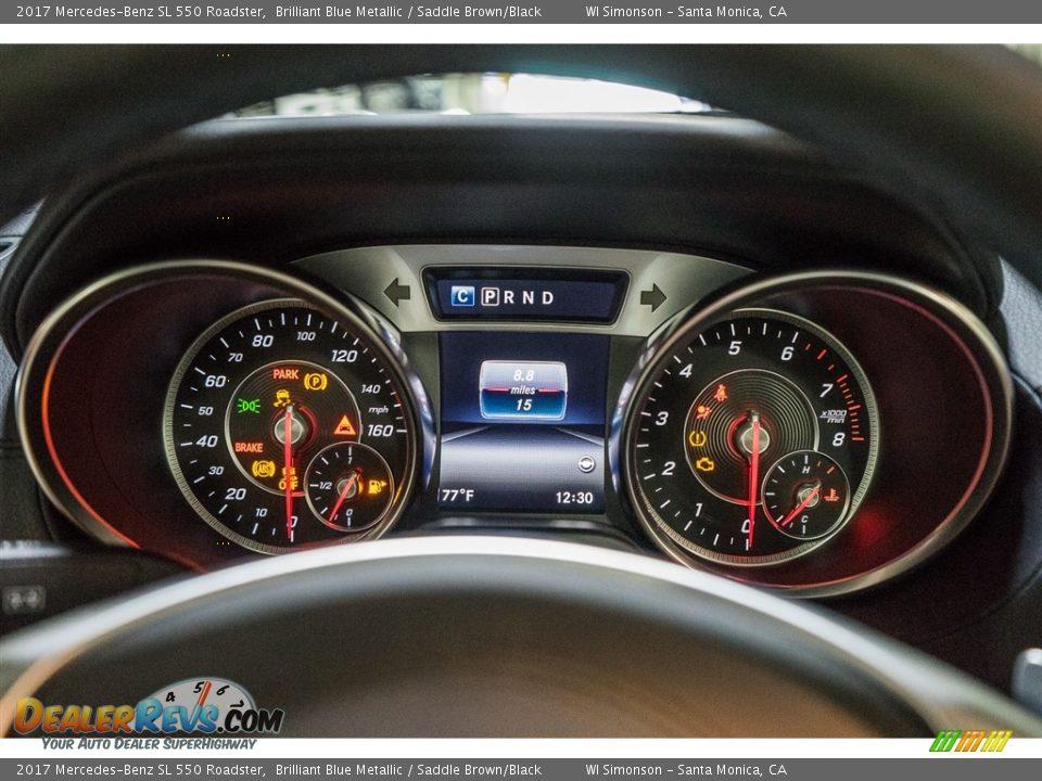 2017 Mercedes-Benz SL 550 Roadster Gauges Photo #7