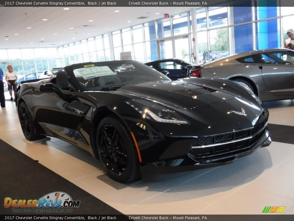 2017 Chevrolet Corvette Stingray Convertible Black / Jet Black Photo #6