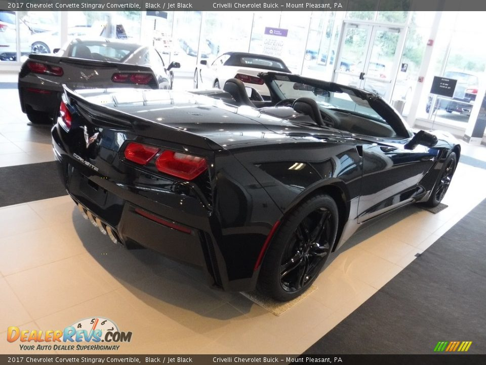 2017 Chevrolet Corvette Stingray Convertible Black / Jet Black Photo #9