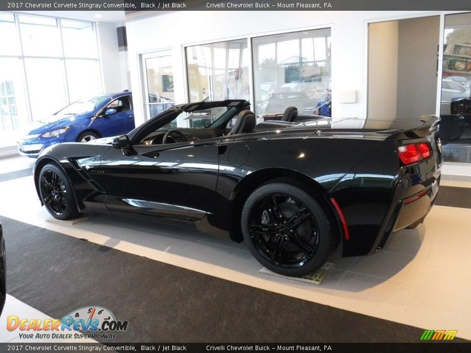 2017 Chevrolet Corvette Stingray Convertible Black / Jet Black Photo #11