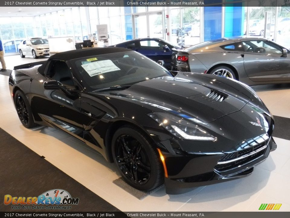 2017 Chevrolet Corvette Stingray Convertible Black / Jet Black Photo #13