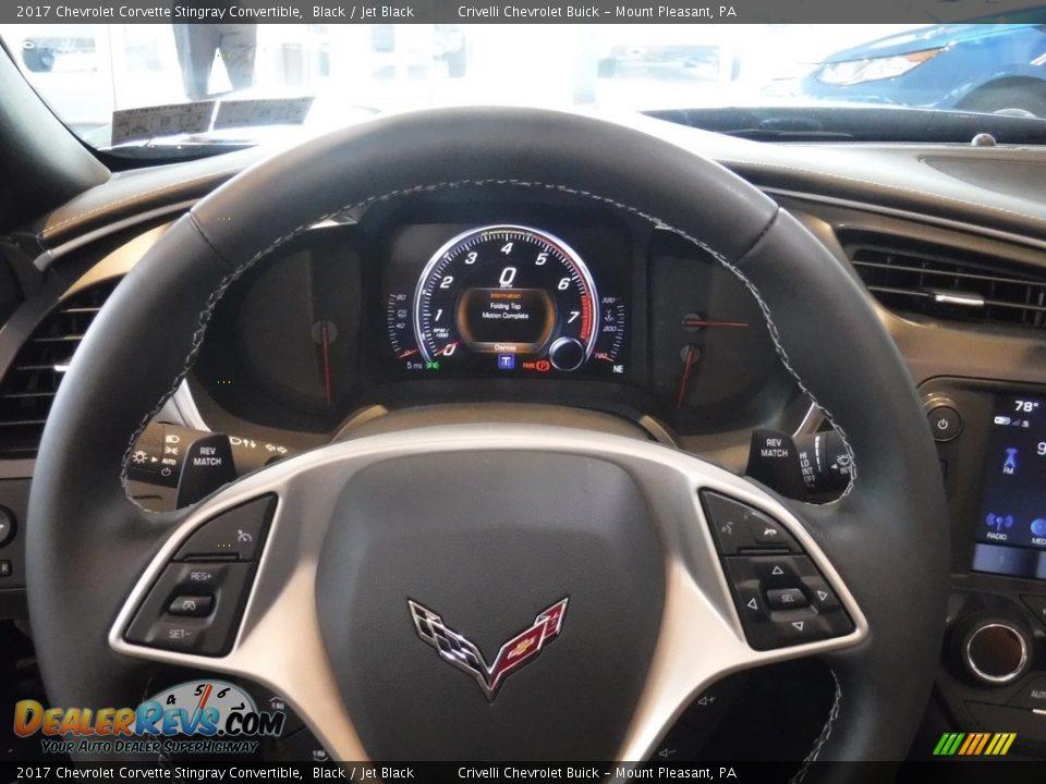 2017 Chevrolet Corvette Stingray Convertible Black / Jet Black Photo #17